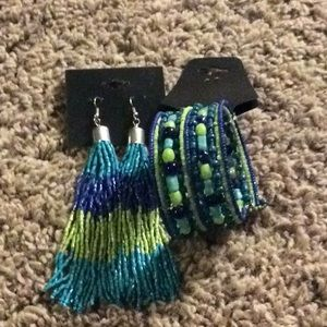 Jewelry - Matching earrings and bracelet set